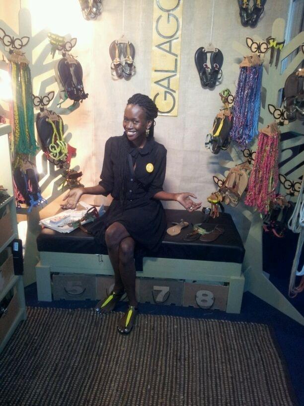 Galago's Designer Adhiambo in her store