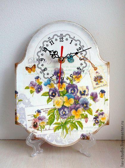 """Часы для дома ручной работы. Ярмарка Мастеров - ручная работа Часы """"Виола"""". Handmade."""