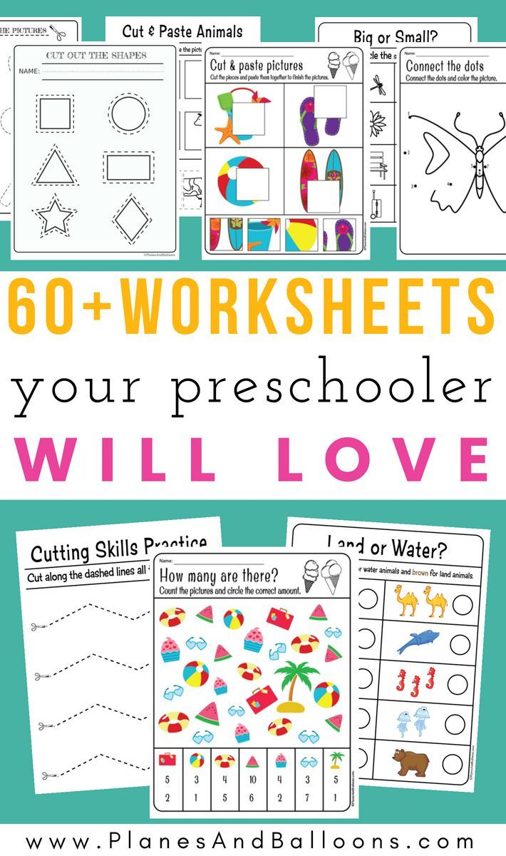 400 Free Preschool Worksheets In Pdf Format To Print Planes