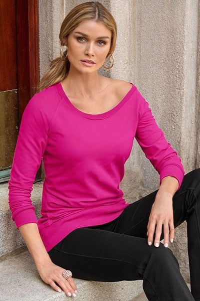 Prix: €14.59 Sweat-shirt Manches Longues Rosy Decontracte Femmes Pas Cher www.modebuy.com @Modebuy #Modebuy #Rose #mode #me #femme