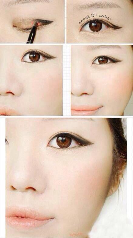 Korean style eye make up