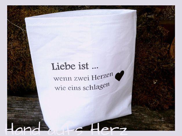 Shabby Lichtbeutel Spruch LIEBE IST...