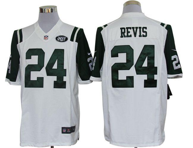 Nice New York Jets 24 Revis White Nike Limited Jerseys | New York Jets