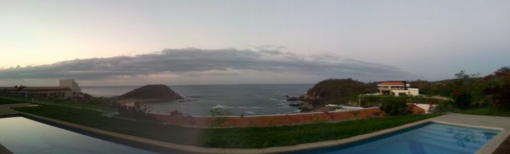 The view from our room at Secrets Huatulco! Sunrise view :)