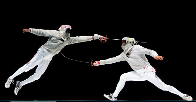 Fencing - Athens 2004 Olympics - Photo by Donald Miralle