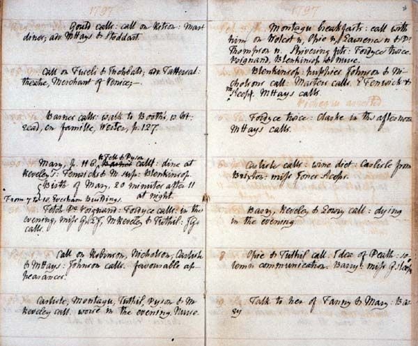 "Page from William Godwin's journal recording ""Birth of Mary, 20 minutes after 11 at night"" (left column, four rows down)... Mary Shelley was born as Mary Wollstonecraft Godwin in Somers Town, London. She was the second child of the feminist philosopher, educator, and writer Mary Wollstonecraft, and the first child of the philosopher, novelist, and journalist William Godwin. Wollstonecraft died of puerperal fever ten days after Mary was born."