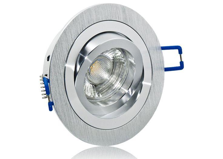 New LED Einbaustrahler Set mit Marken GU LED Spot Lc Light Watt COB Aluminium BiColor Rund