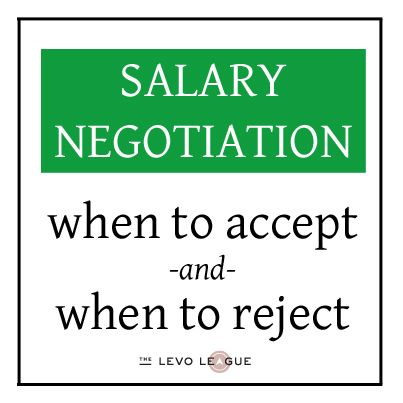 while salary negotiation is necessary prior to accepting any potential job offer a candidate must know when to stop negotiating and either accept or deny - Job Offer Salary Negotiation
