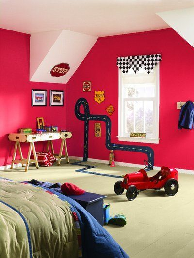 57 best images about ready for red red paint colors on 19970 | 860d92d6a341ae43c424cd60edebb51e boys bedroom cars toddler boy bedrooms