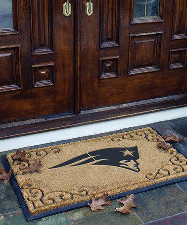 Loving this New England Patriots Doormat on #zulily! #zulilyfinds