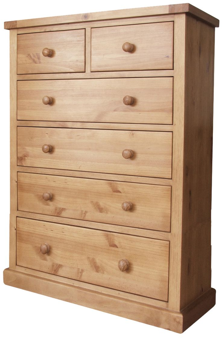 Country Pine Jumbo 2 Over 4 Chest Of Drawers, Made From Solid Pine, With