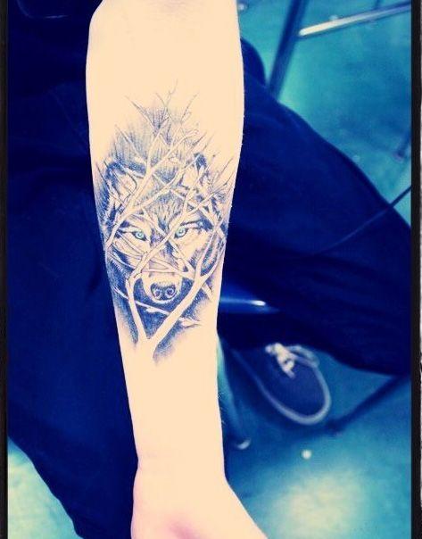 cute wolf tattoo