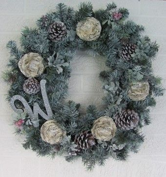 White Christmas Wreath - eclectic - holiday decorations - theshabbychateau