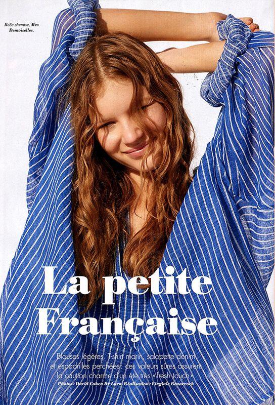 Mes Demoiselles... Paris • Evian Shirt • GLAMOUR France • July 2016 #mesdemoiselles #mesdemoisellesparis #print #stripes #top #SS16