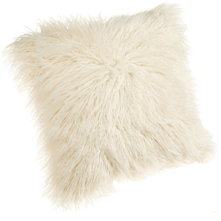 Mongolian Faux Fur Pillow for Indoors