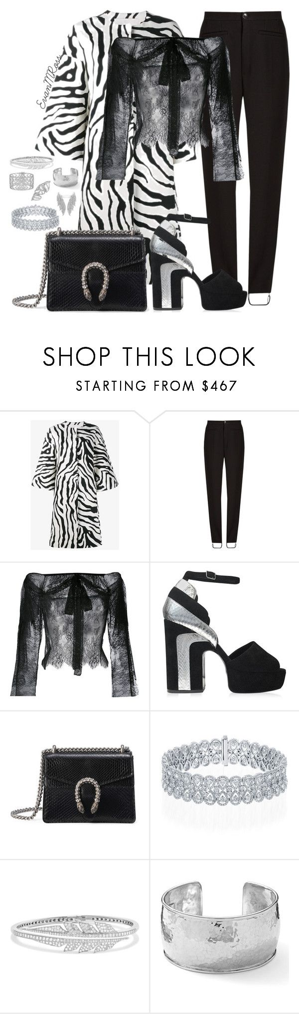 """""""Untitled #1064"""" by irunaftergucci ❤ liked on Polyvore featuring ADAM, Balenciaga, Philosophy di Lorenzo Serafini, Pierre Hardy, Gucci, Stephen Webster and Ippolita"""