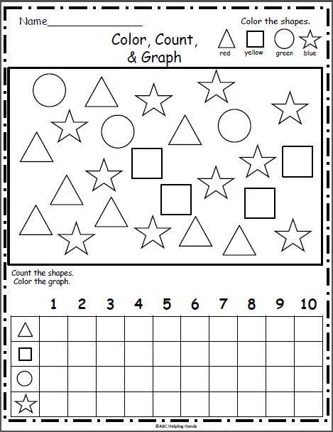 Free Shapes Graph - Color, Count, Graph