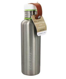 Botella de agua de acero inoxidable con un diseño muy chulo.