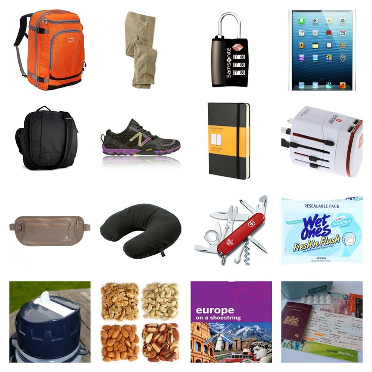 20 most essentials to pack for EuroRailing and InterRailing adventures
