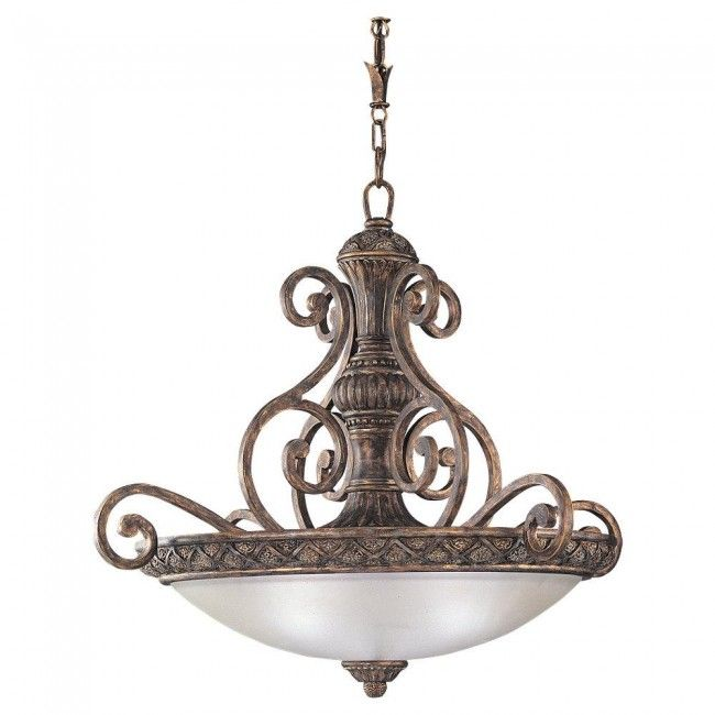 """Grand style, graceful curves, and warm detailed carvings define the Highlands collection from Sea Gull Lighting"""