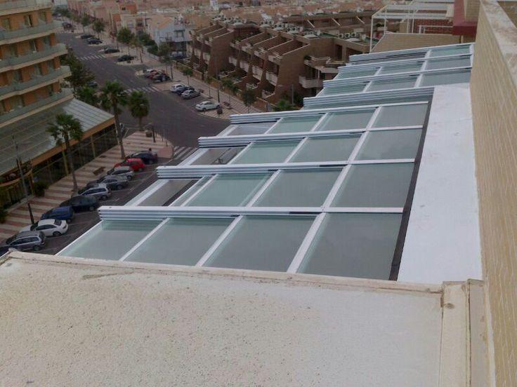 Techo m vil de cristal cortinas de cristal de - Moviles de techo ...