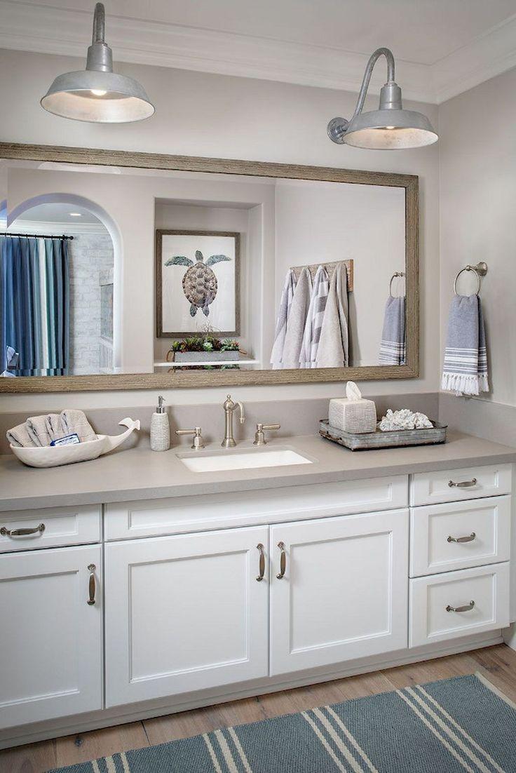Adorable 35 Awesome Coastal Style Nautical Bathroom Designs Ideas https://homevialand.com/2017/06/21/35-awesome-coastal-style-nautical-bathroom-designs-ideas/