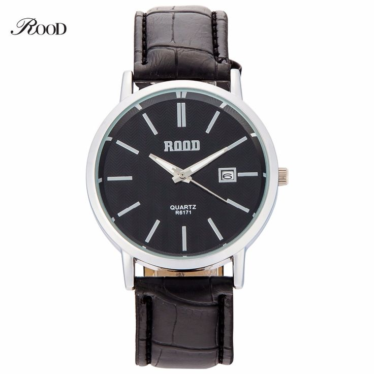Simple Watches Men Luxury ROOD Top Brand Fashion High Quality Casual Wristwatch Leather Strap Quartz Watch Waterproof Watches