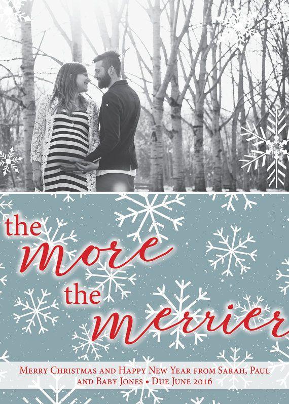 Christmas Card | Pregnancy Announcement | Pregnancy Christmas Card | Christmas Pregnancy Announcement | Digital Download | PDF Printable