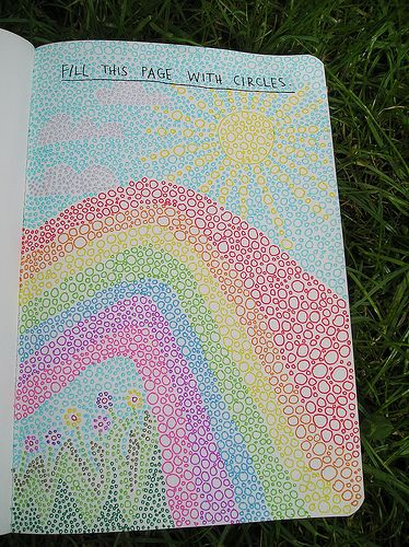 Wreck this journal day 1 Fill this page with circles!! | Flickr - Photo Sharing!