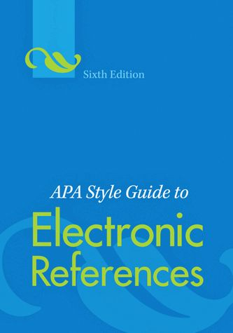 citing a manual in apa format