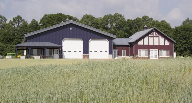 559 best images about garages on pinterest steel for Shop house combo