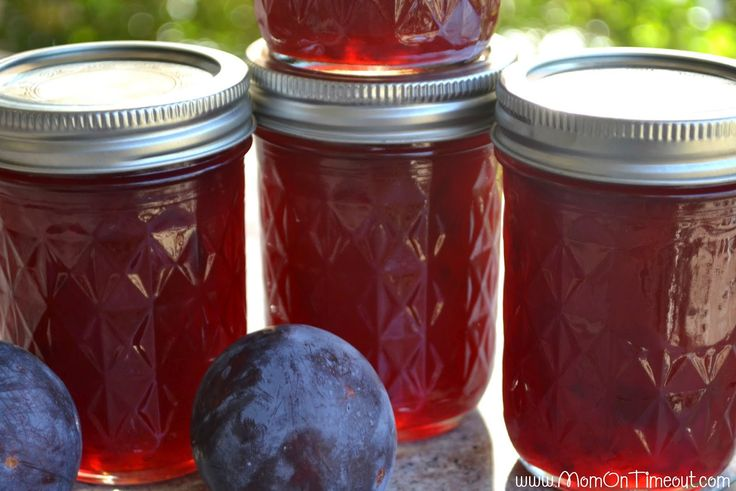 how to make plum preserves without pectin