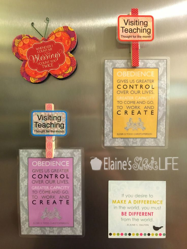 Elaine's Sweet Life: Visiting Teaching Thought for the Month Magnet