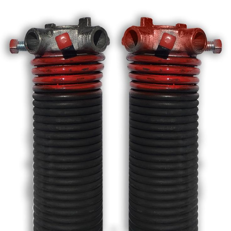 """DURA-LIFT .225 x 2"""" x 27"""" Torsion Garage Springs (Red, Left & Right Wound)"""