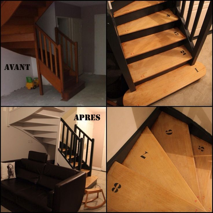 Plus de 25 id es g niales de la cat gorie escalier r novation sur pinterest - Comment customiser un escalier en bois ...