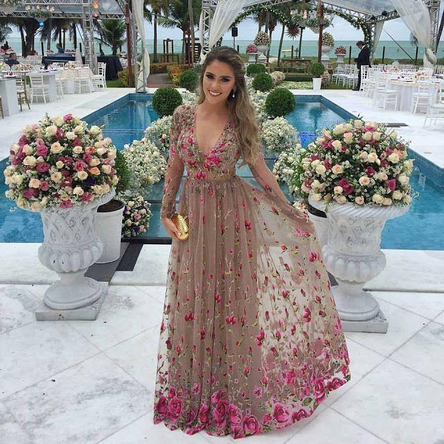 vestido de madrinha bordado floral patricia bonaldi
