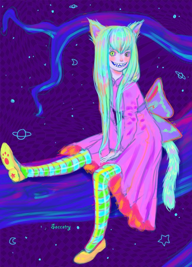 Cheshire Cat By Saccstry On Deviantart And Tumblr Pastel