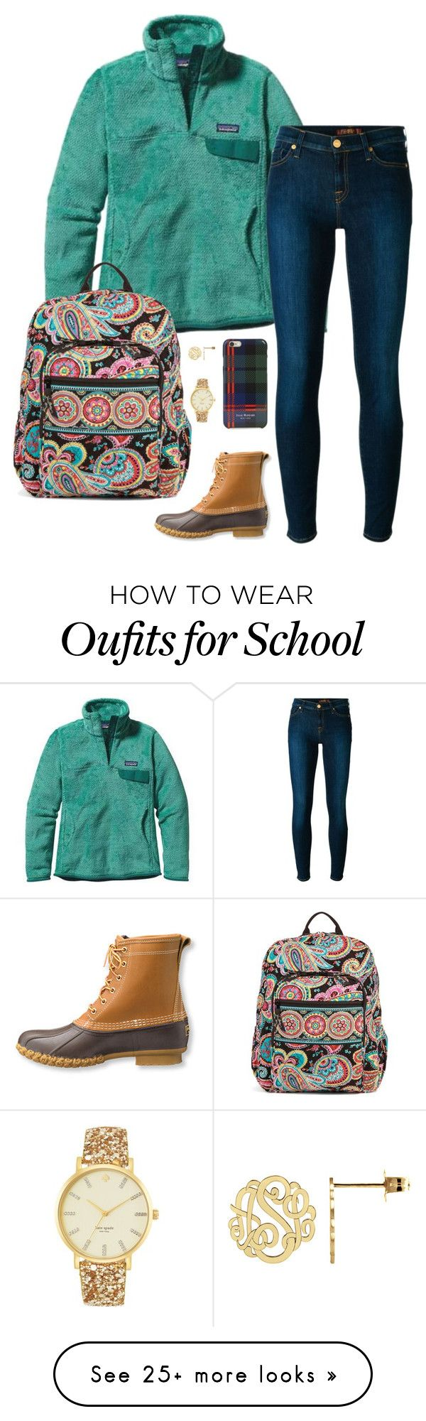 """School starts back on Monday... "" by sc-prep-girl on Polyvore featuring Patagonia, 7 For All Mankind, L.L.Bean, Vera Bradley, Kate Spade and Isaac Mizrahi"