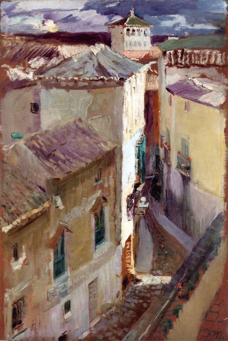 The Athenaeum - A Street in Toledo (Joaquin Sorolla y Bastida - )