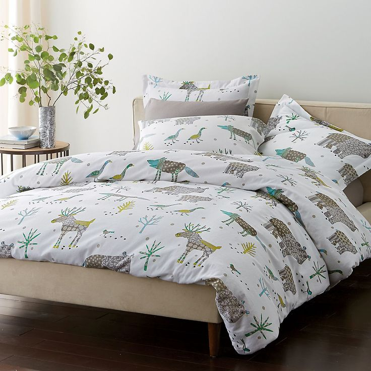 Best Winter Forest Flannel Duvet Cover And Sham The Company 400 x 300