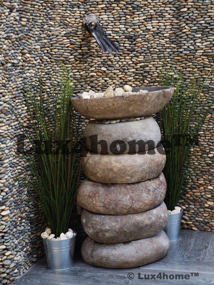 Wall: Standin Stone Pebble Dark Ocean - Lux4home™