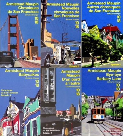 Les chroniques de San Fransisco d'Armistead Maupin /// Une saga bien prenante (en tout cas pour les 6 premiers tomes) avec une gallerie de personnages attachante, un style fluide (un peu trop lisse d'ailleurs) et mélant différents types d'émotions.