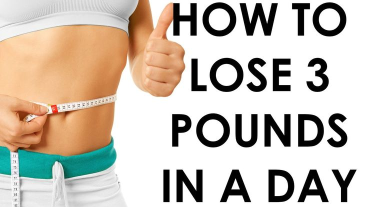 How to lose 3 pounds in a Day - Christina Carlyle