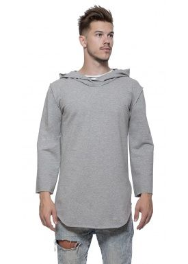 3/4 Long hoody gray