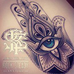 ... Hamsa Drawing on Pinterest | Hamsa, Hasma tattoo and Hamsa tattoo  Hamsa Hand Tattoo Thigh