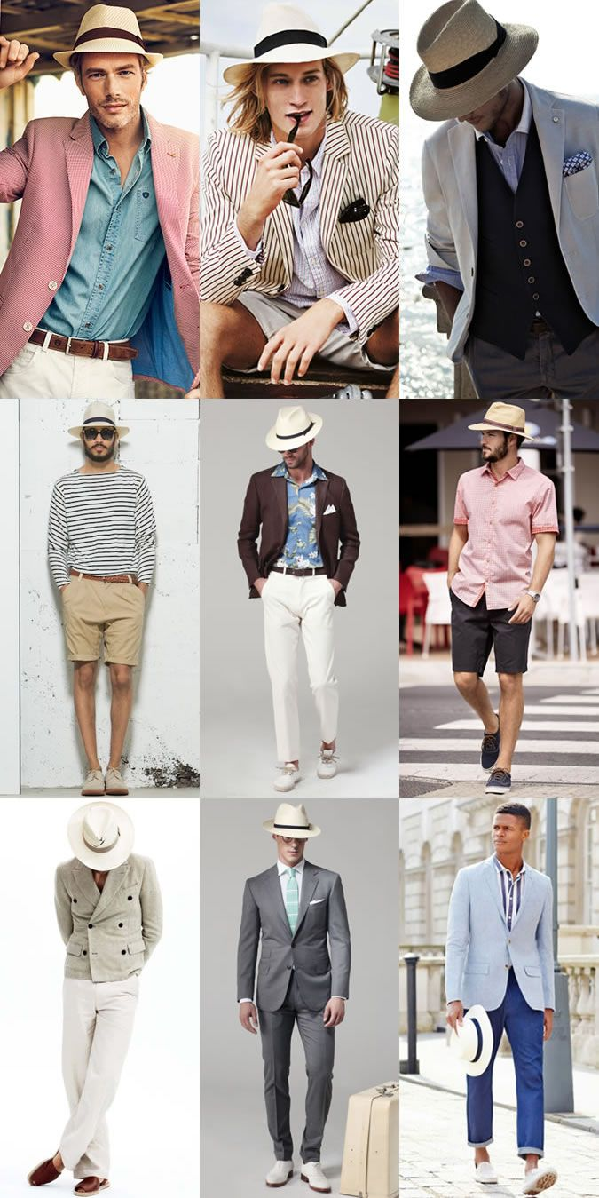 Men's Panama Hat Outfit Inspiration Lookbook