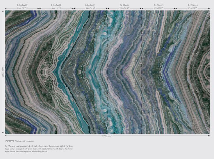 Tapet-kollektionen Surround, Den imponerande kollektionen Surround består av tre högupplöst digitalt tryckta tapeter. Två dramatiska repliker av åldrad välpolerad marmor och en elegant silkestapet inspirerad av venetianska palats.  Tapeten Marble