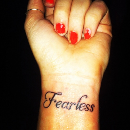 best 25 fearless tattoos ideas on pinterest love fearlessly tattoo cursive fonts in word and. Black Bedroom Furniture Sets. Home Design Ideas