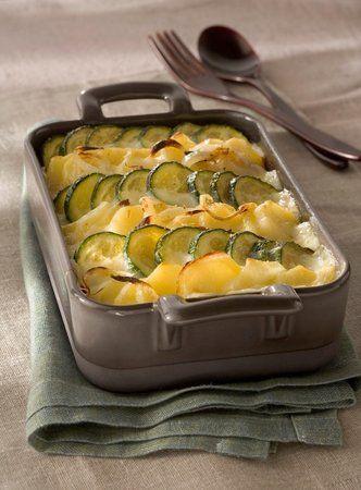 Zapečené brambory s cuketou