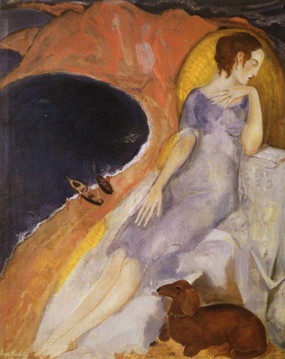 The woman on the beach, 1920's   Boris Anisfeld. Russian (1879 - 1973):